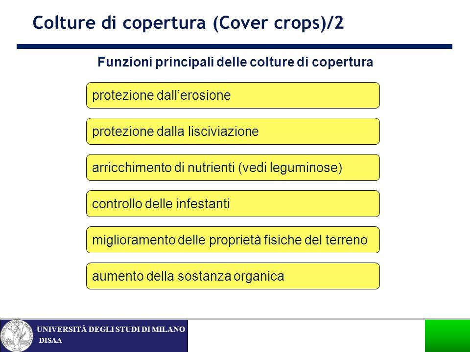 Funzioni principali delle colture di copertura