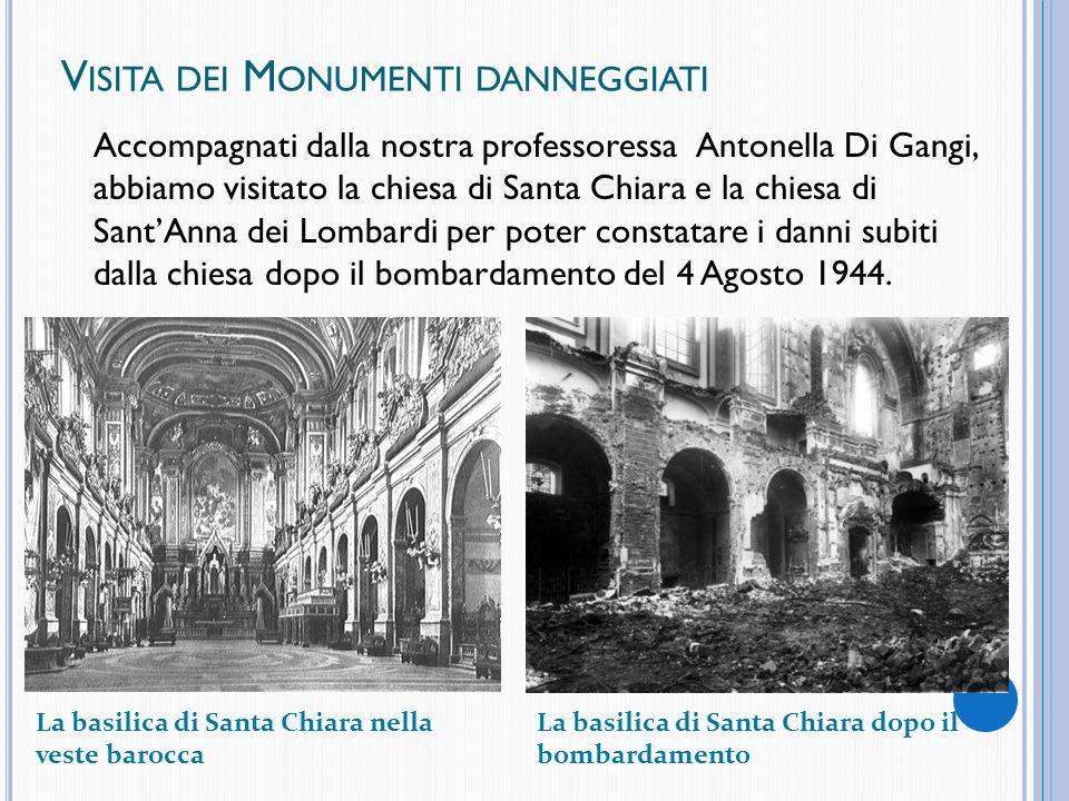Visita dei Monumenti danneggiati