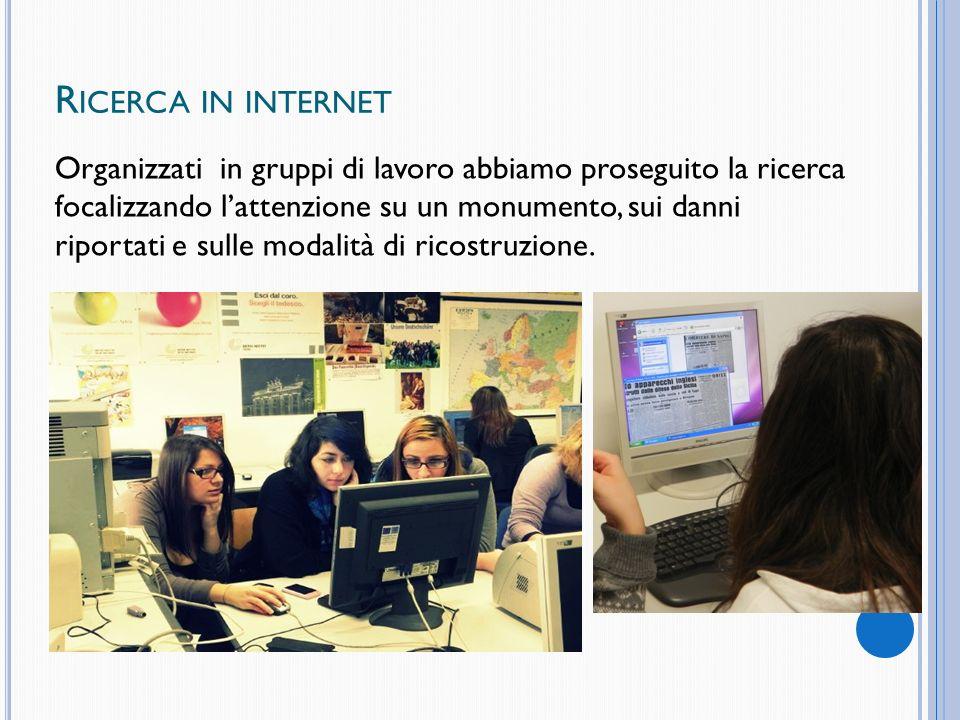 Ricerca in internet