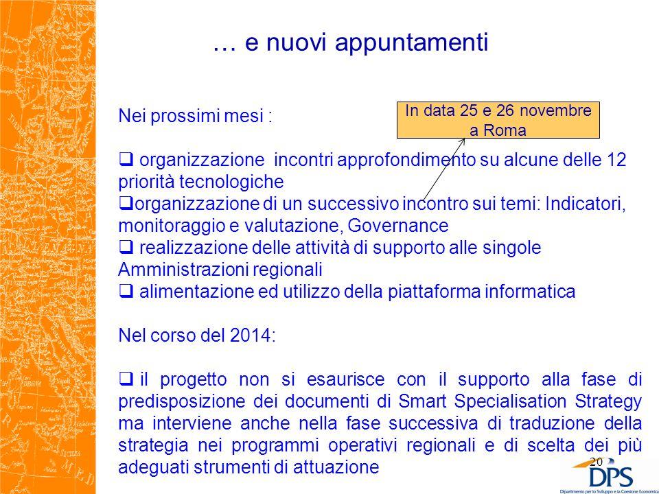 In data 25 e 26 novembre a Roma