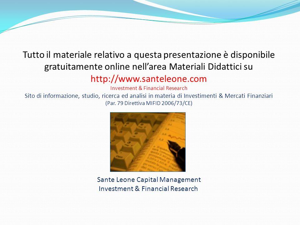 Tutto il materiale relativo a questa presentazione è disponibile gratuitamente online nell'area Materiali Didattici su http://www.santeleone.com