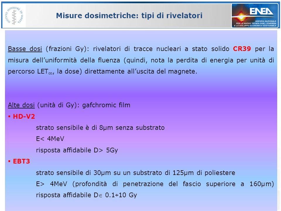 Misure dosimetriche: tipi di rivelatori
