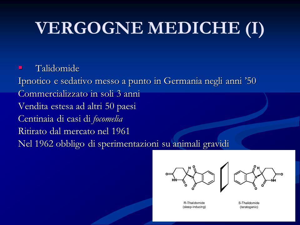 VERGOGNE MEDICHE (I) Talidomide