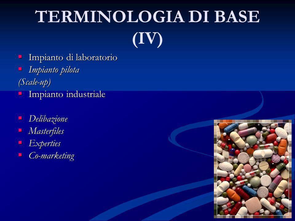 TERMINOLOGIA DI BASE (IV)