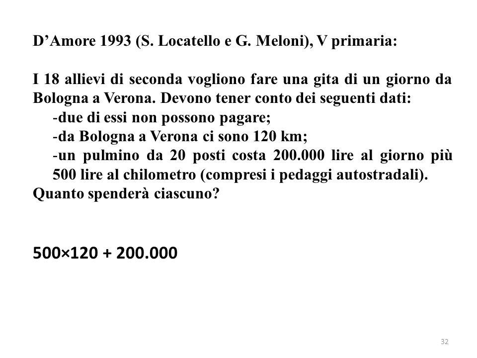 500×120 + 200.000 D'Amore 1993 (S. Locatello e G. Meloni), V primaria:
