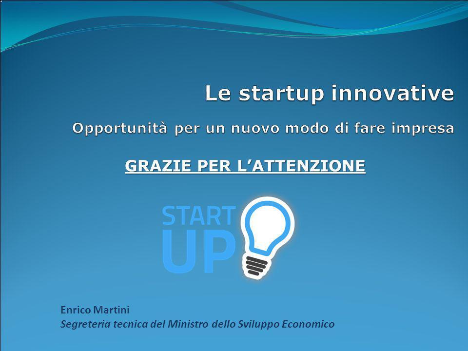 Le startup innovative Opportunità per un nuovo modo di fare impresa