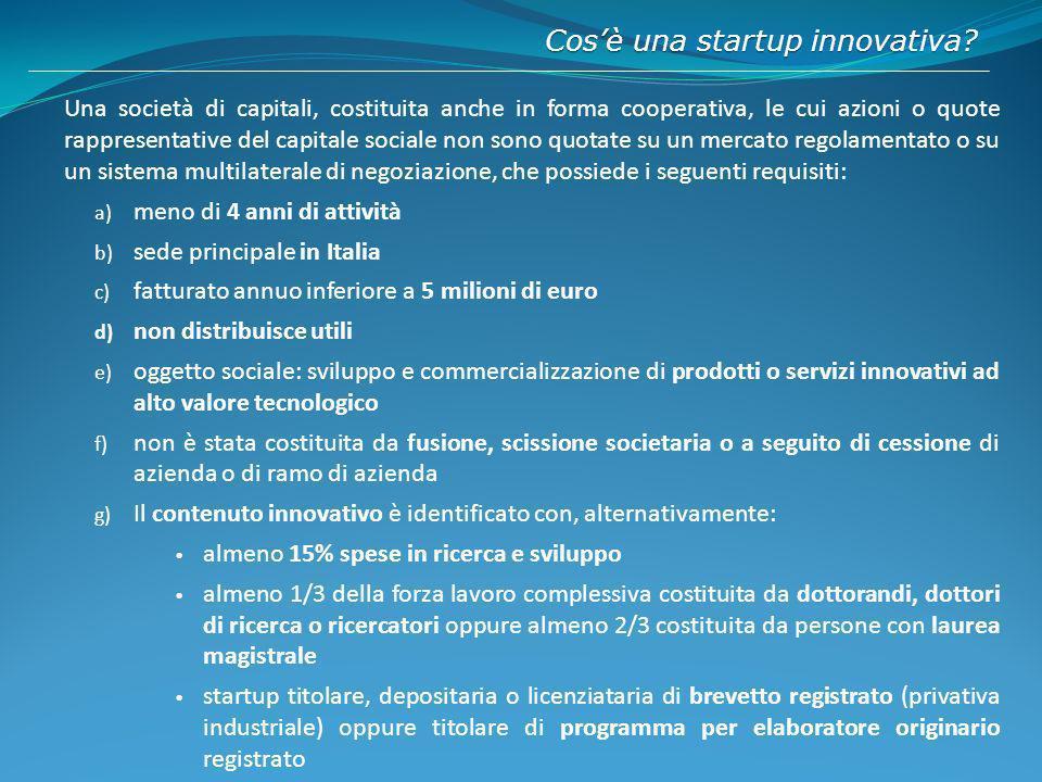 Cos'è una startup innovativa