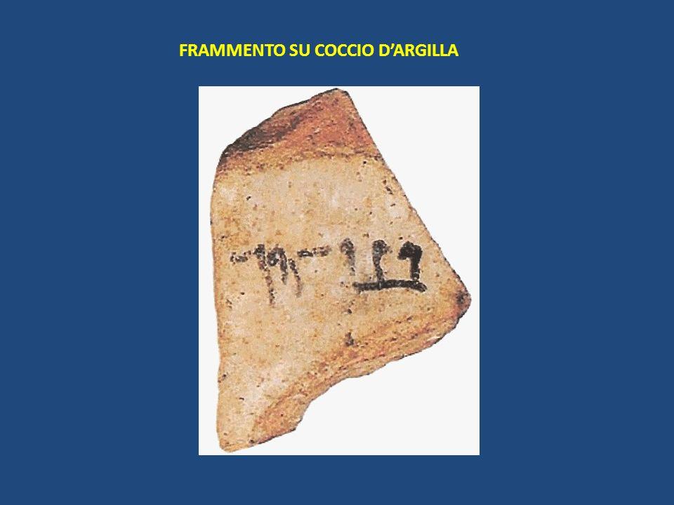 FRAMMENTO SU COCCIO D'ARGILLA