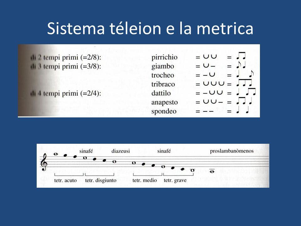 Sistema téleion e la metrica