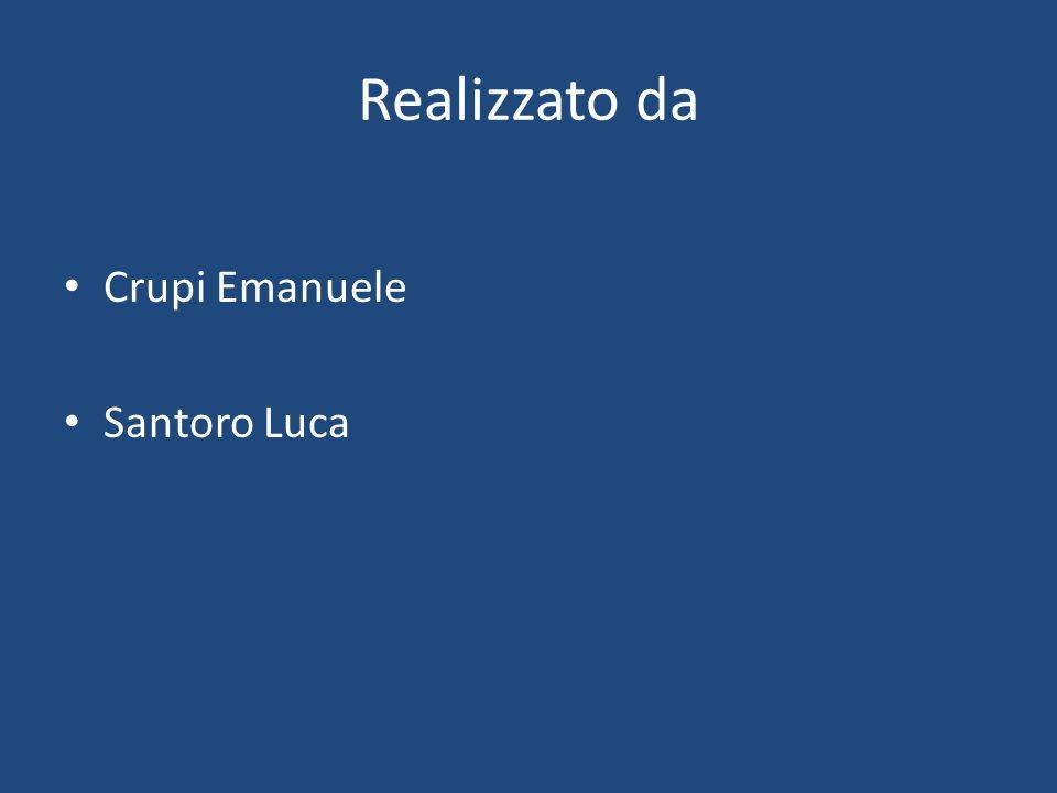 Realizzato da Crupi Emanuele Santoro Luca