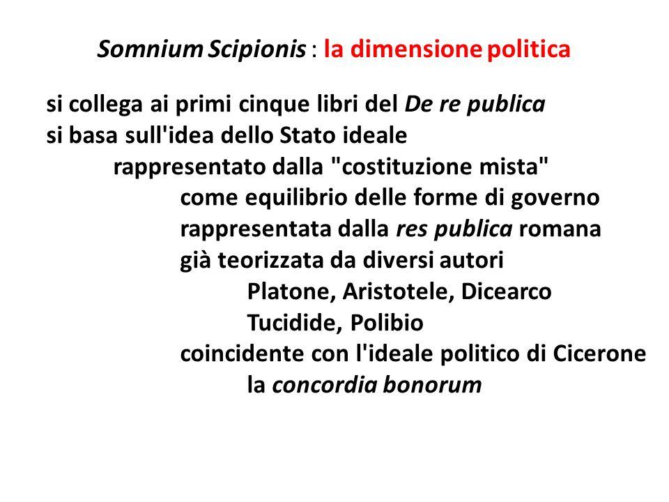 Somnium Scipionis : la dimensione politica