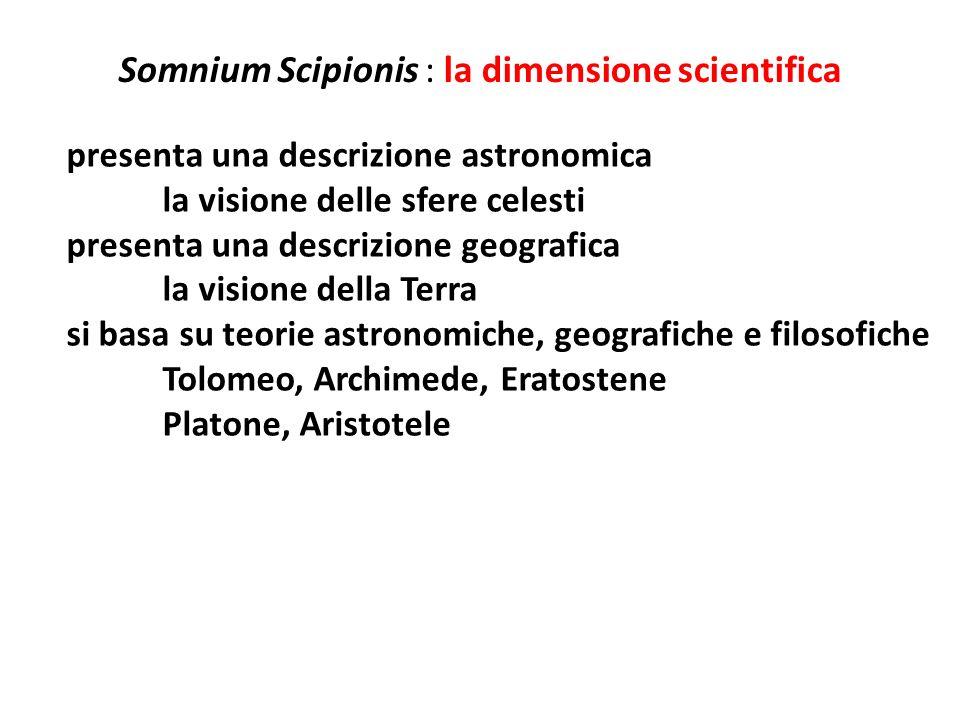 Somnium Scipionis : la dimensione scientifica