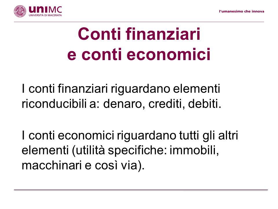 Conti finanziari e conti economici
