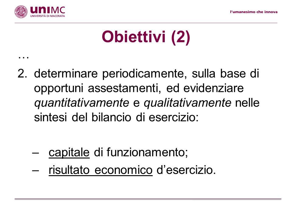 Obiettivi (2) …