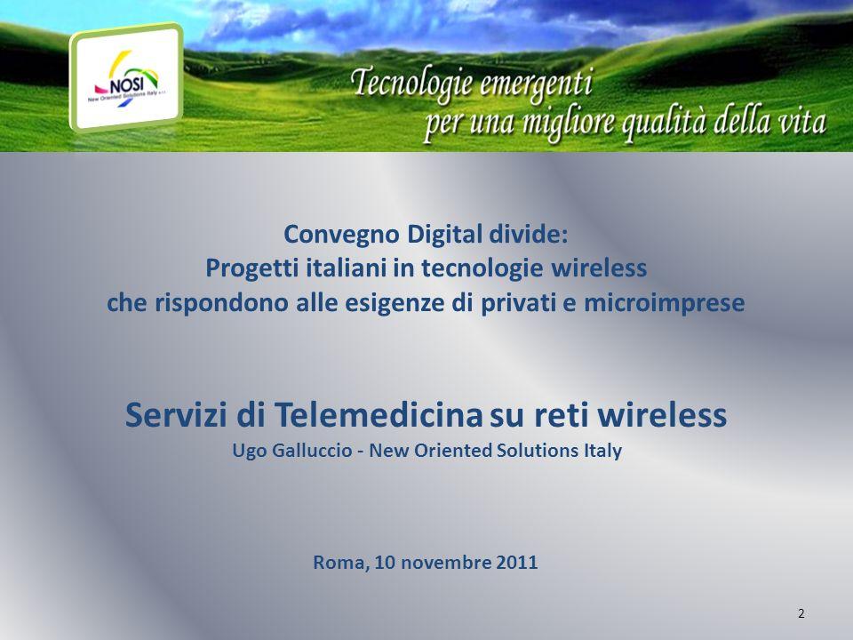 Servizi di Telemedicina su reti wireless