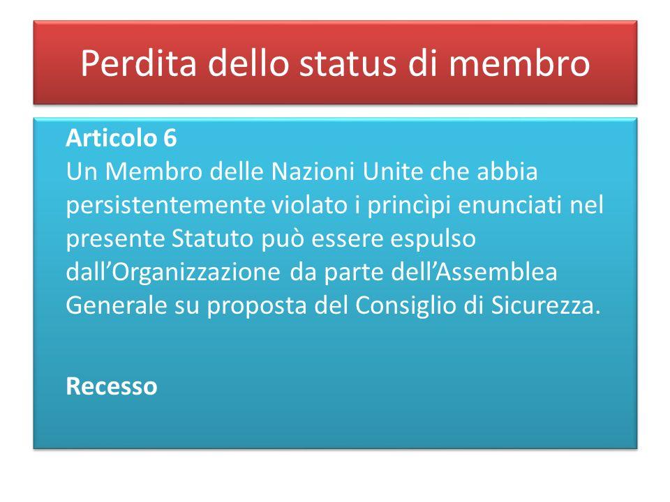 Perdita dello status di membro