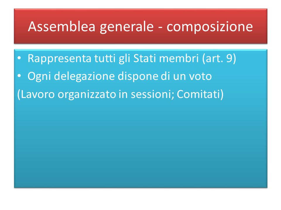 Assemblea generale - composizione