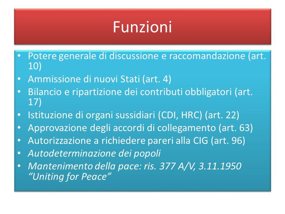 Funzioni Potere generale di discussione e raccomandazione (art. 10)