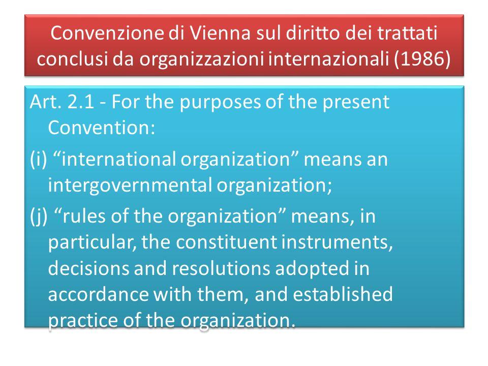 Convenzione di Vienna sul diritto dei trattati conclusi da organizzazioni internazionali (1986)