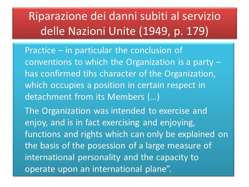 Riparazione dei danni subiti al servizio delle Nazioni Unite (1949, p