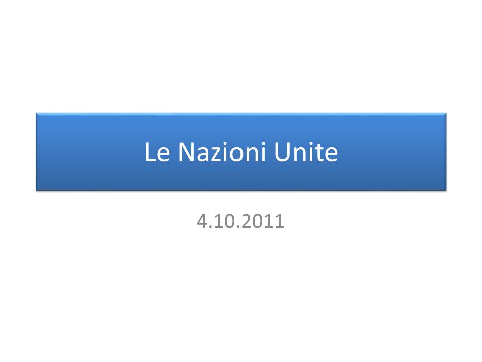 Le Nazioni Unite 4.10.2011