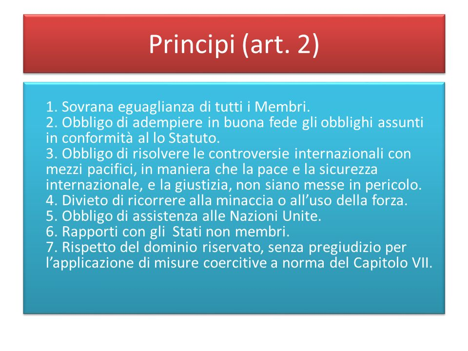 Principi (art. 2)