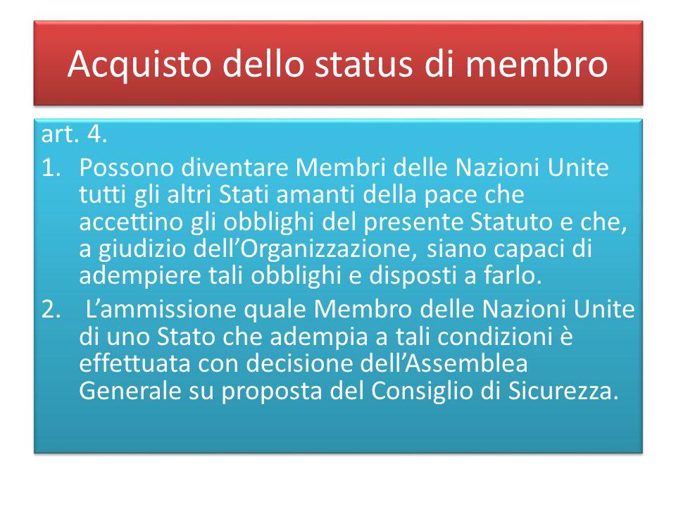 Acquisto dello status di membro