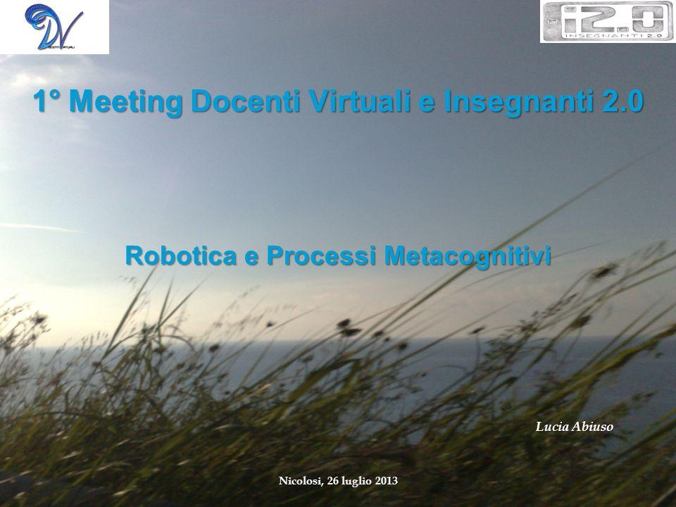 Robotica e Processi Metacognitivi
