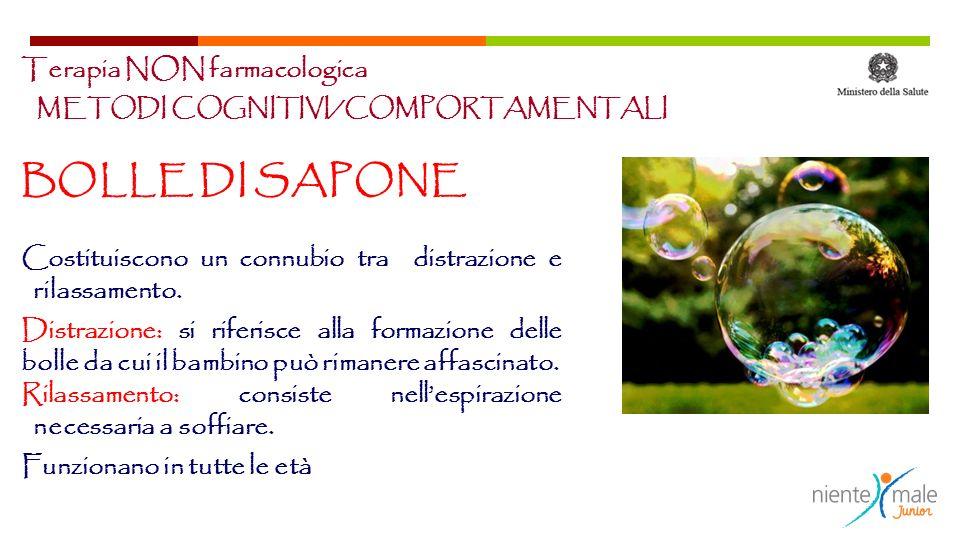 BOLLE DI SAPONE Terapia NON farmacologica