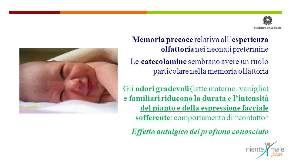 Memoria precoce relativa all'esperienza olfattoria nei neonati pretermine
