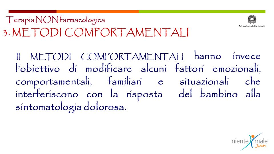 3. METODI COMPORTAMENTALI