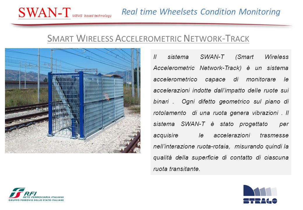 SWAN-T Smart Wireless Accelerometric Network-Track