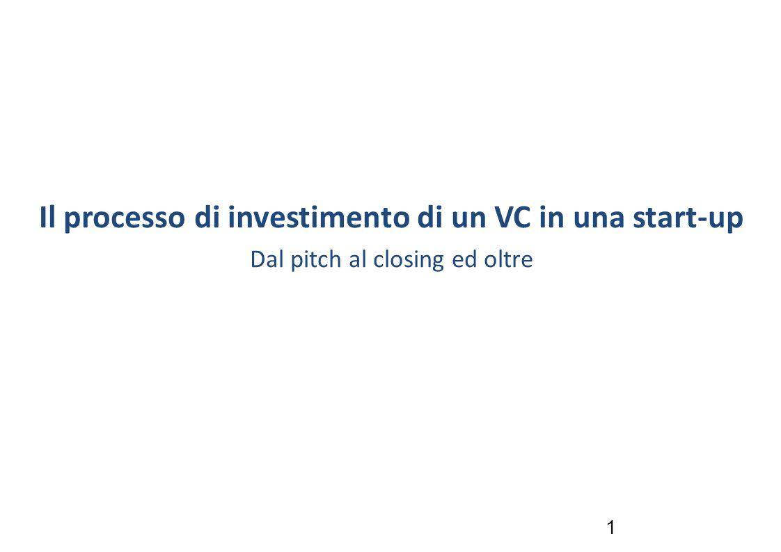 Il processo di investimento di un VC in una start-up