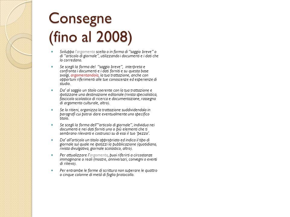 Consegne (fino al 2008)