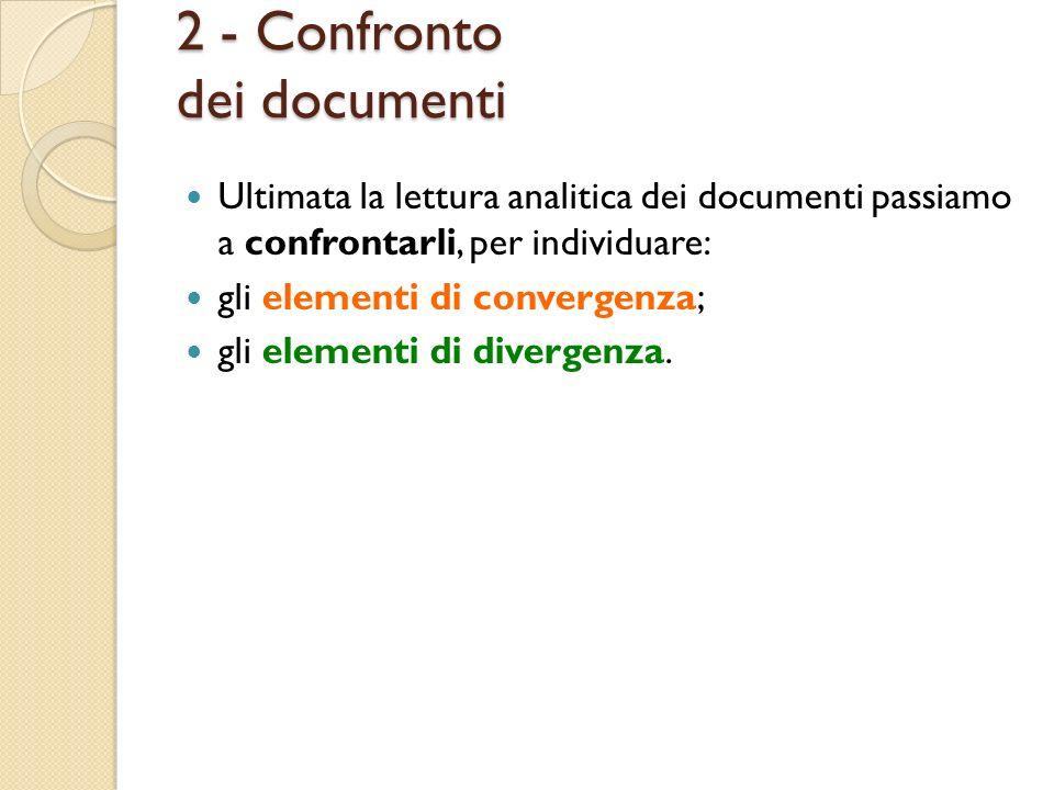 2 - Confronto dei documenti