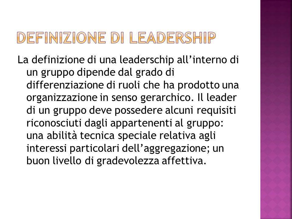 Definizione di leadership