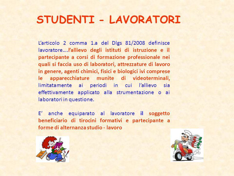 STUDENTI - LAVORATORI