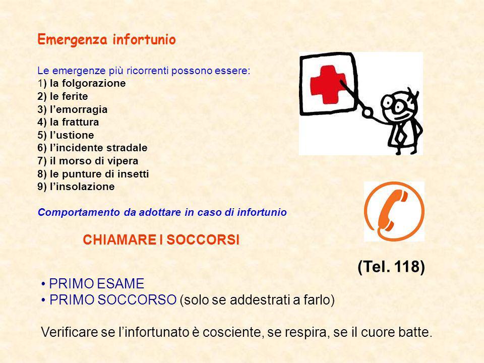(Tel. 118) Emergenza infortunio PRIMO ESAME