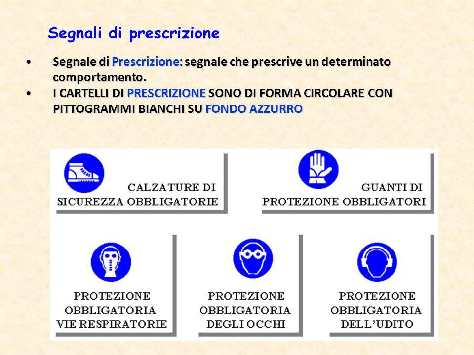 Segnali di prescrizione