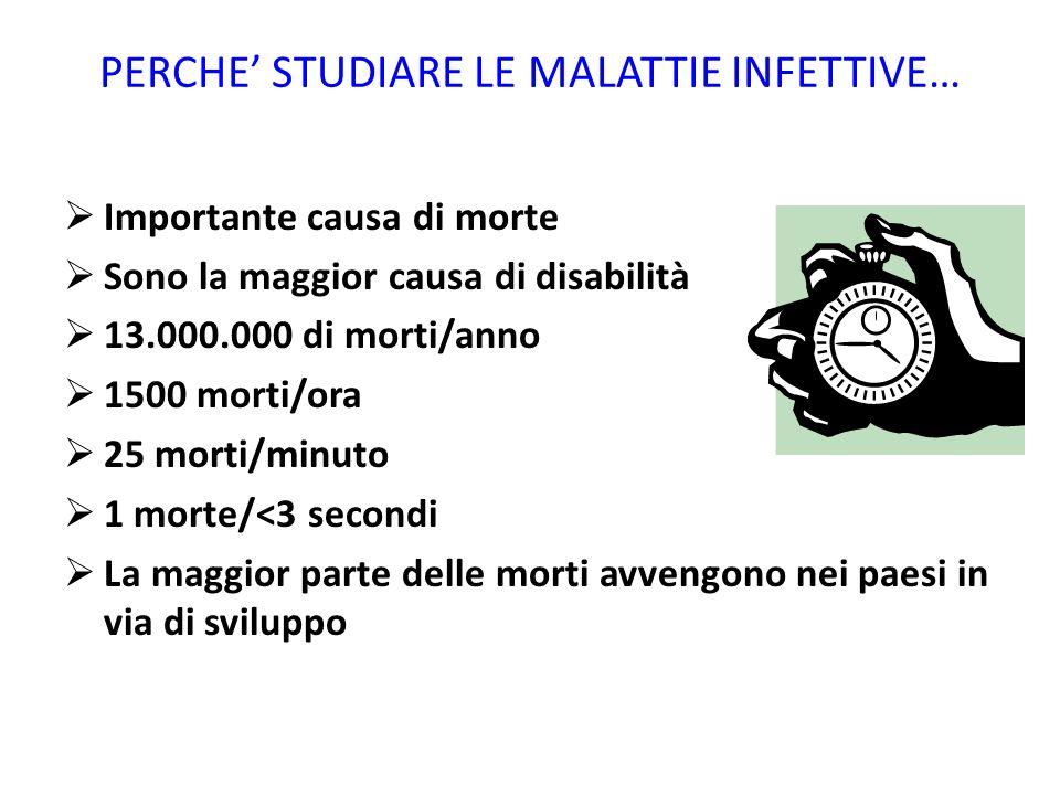 PERCHE' STUDIARE LE MALATTIE INFETTIVE…