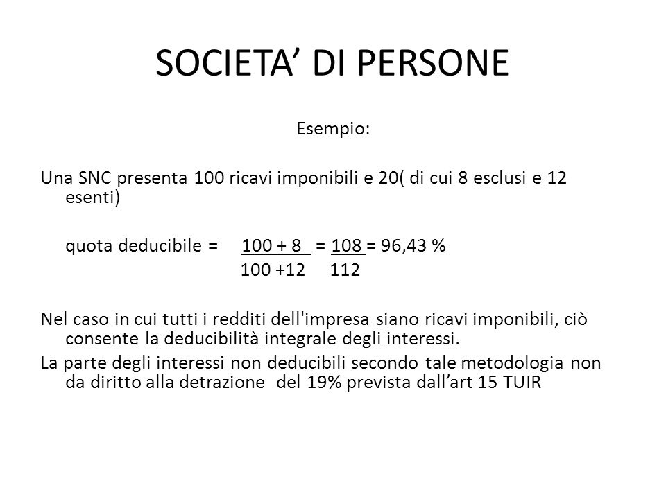 SOCIETA' DI PERSONE
