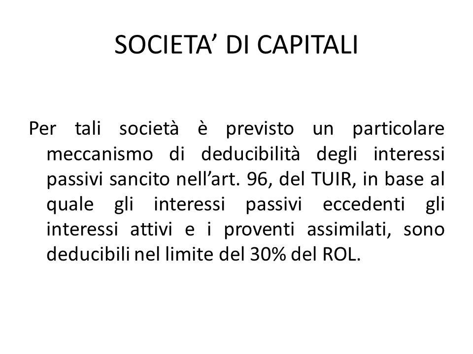 SOCIETA' DI CAPITALI