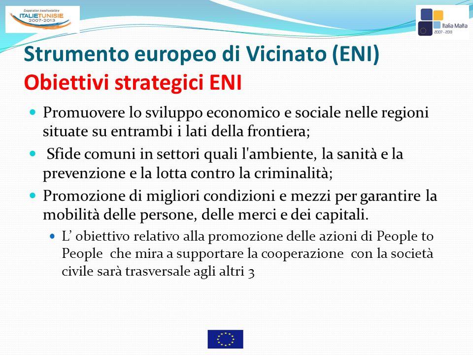 Strumento europeo di Vicinato (ENI) Obiettivi strategici ENI