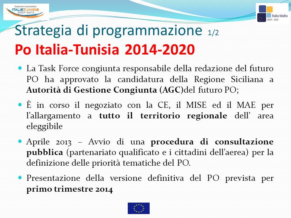 Strategia di programmazione 1/2 Po Italia-Tunisia 2014-2020