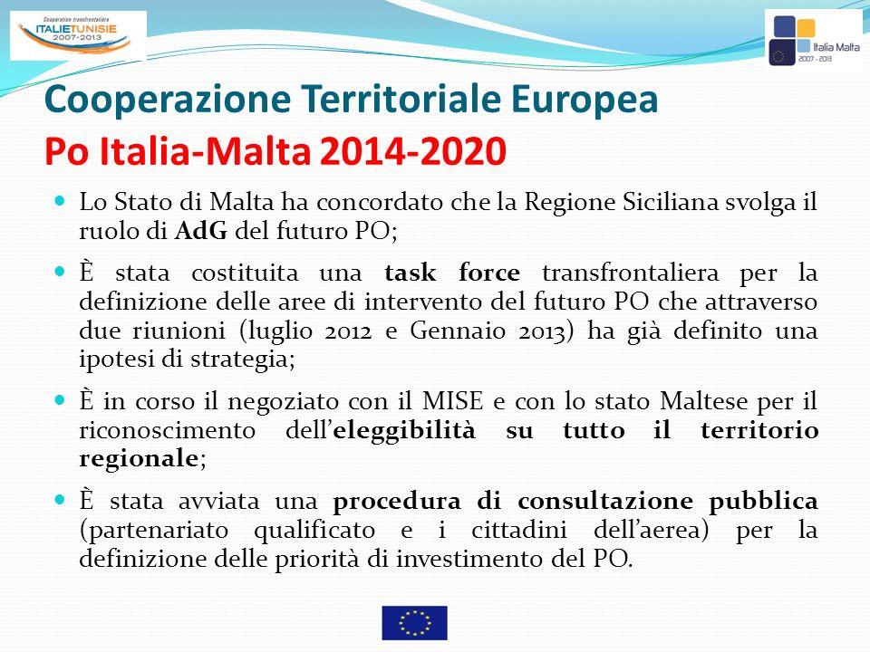 Cooperazione Territoriale Europea Po Italia-Malta 2014-2020