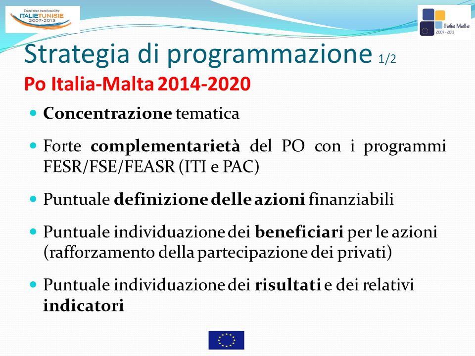 Strategia di programmazione 1/2 Po Italia-Malta 2014-2020
