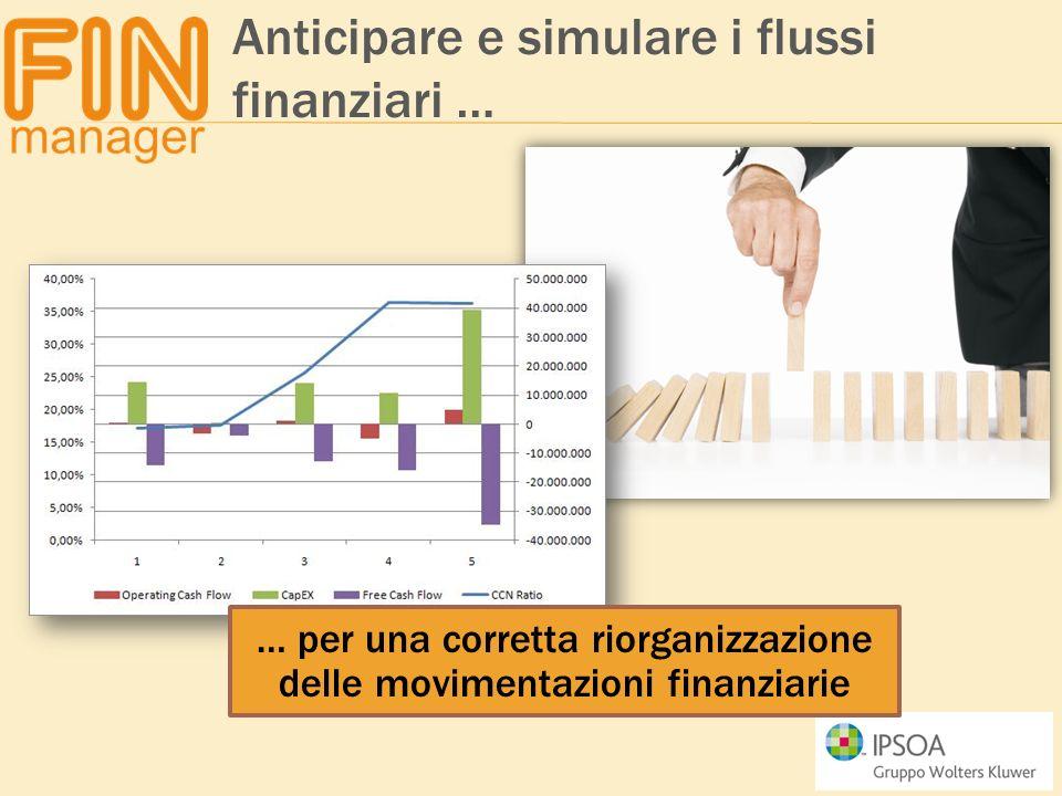 … per una corretta riorganizzazione delle movimentazioni finanziarie