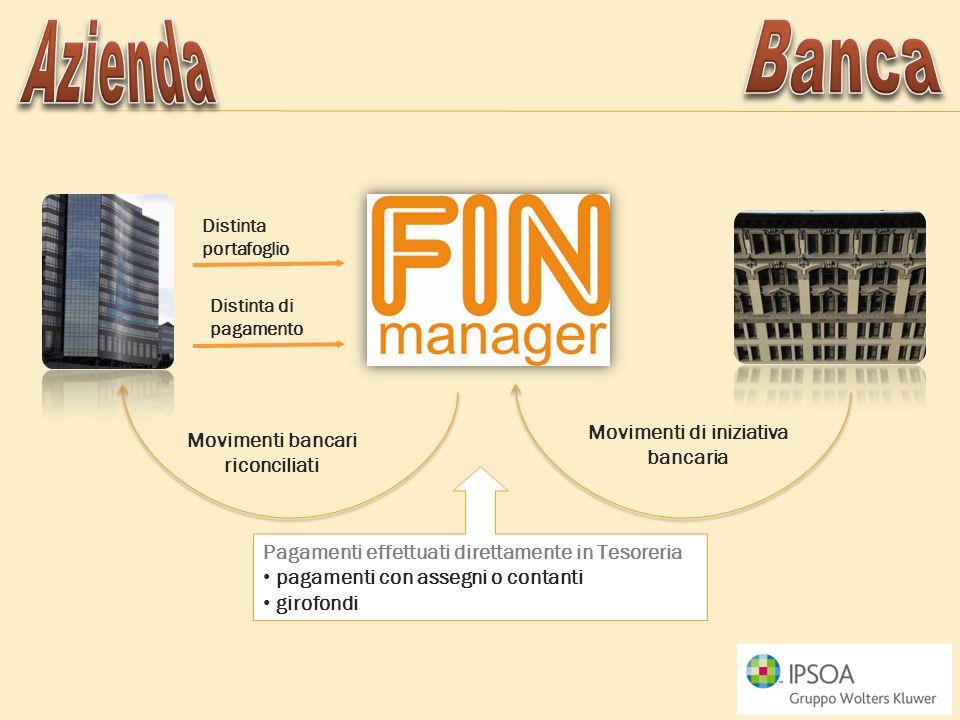 Movimenti di iniziativa bancaria Movimenti bancari riconciliati
