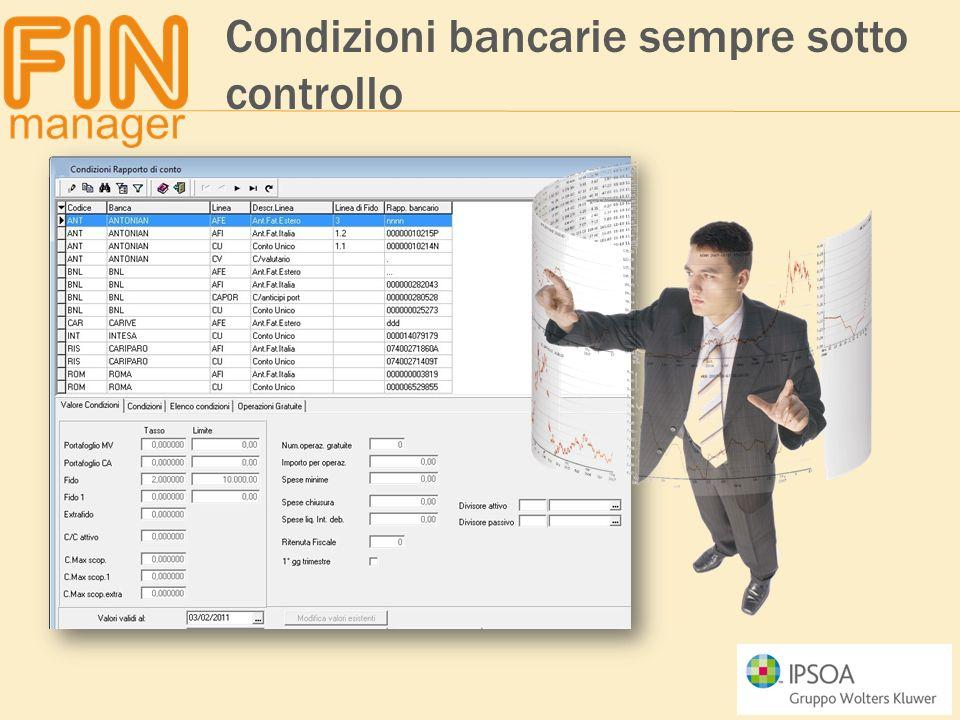 Condizioni bancarie sempre sotto controllo