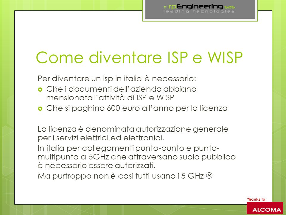 Come diventare ISP e WISP